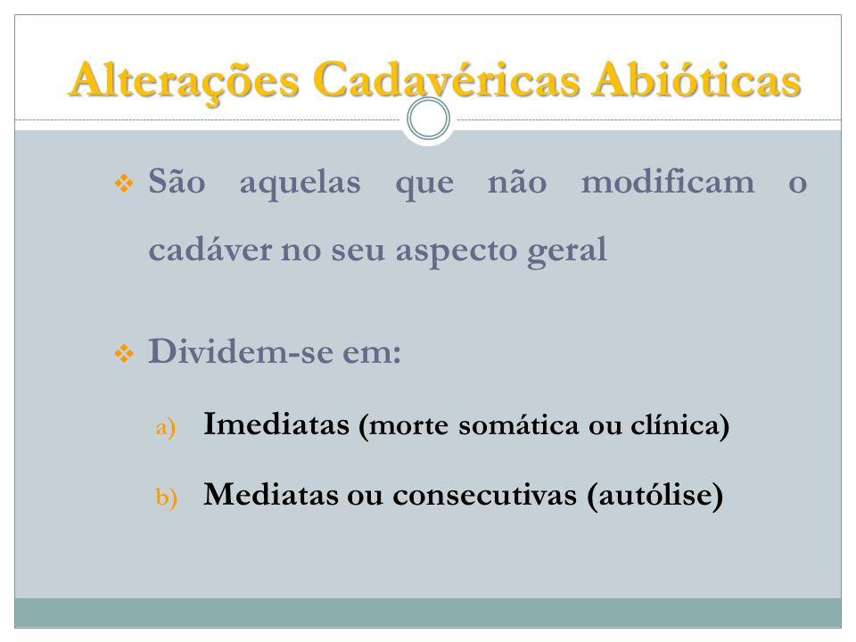 Alterações Cadavéricas Abióticas