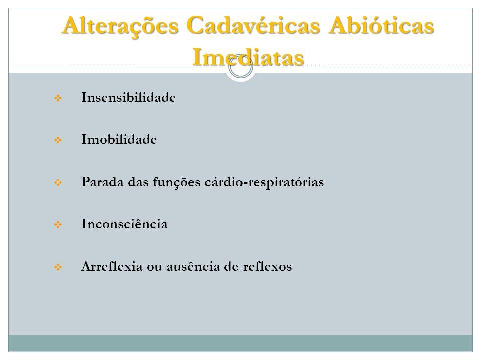 Alterações Cadavéricas Abióticas Imediatas