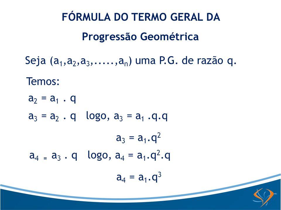 FÓRMULA DO TERMO GERAL DA Progressão Geométrica