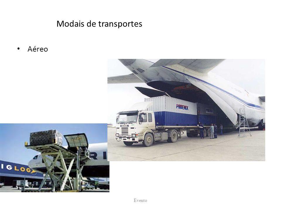 Modais de transportes Aéreo Evento