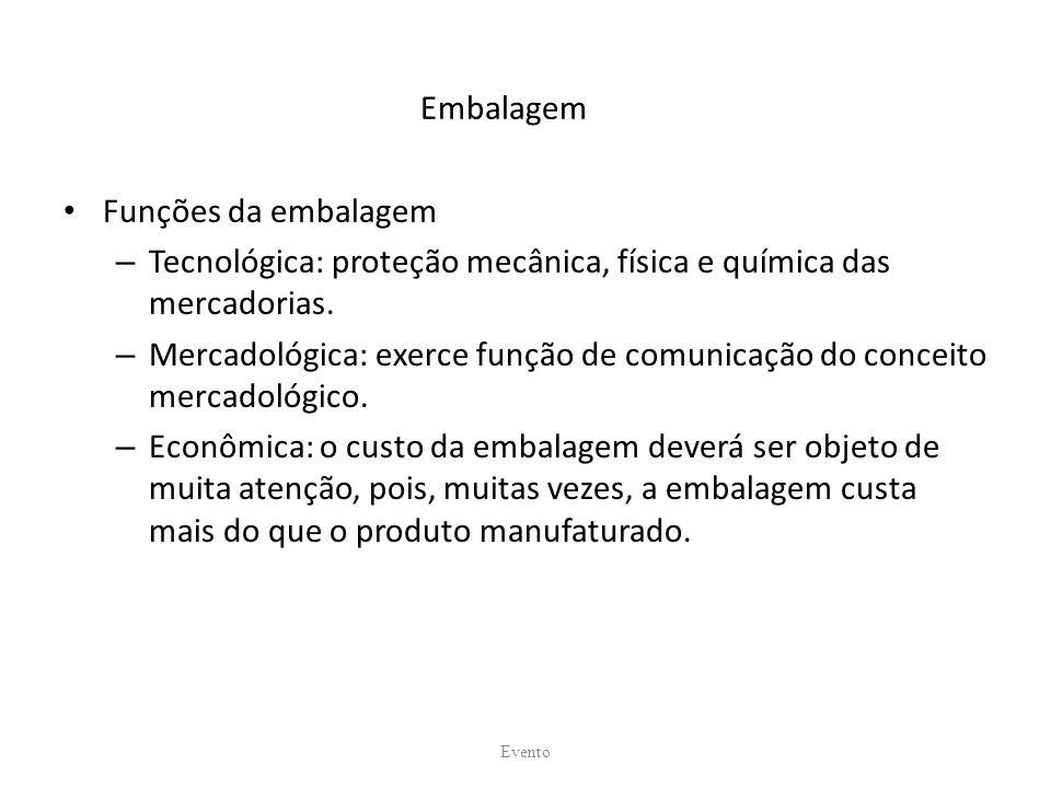 Tecnológica: proteção mecânica, física e química das mercadorias.