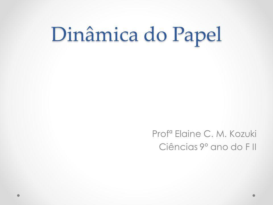 Dinâmica do Papel Profª Elaine C. M. Kozuki Ciências 9º ano do F II