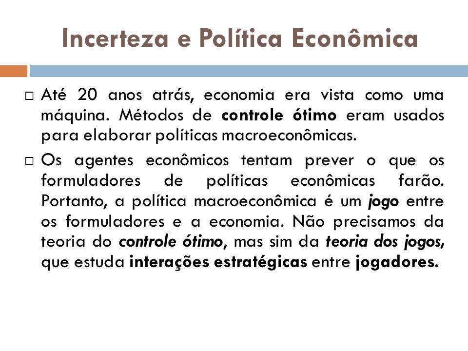 Incerteza e Política Econômica