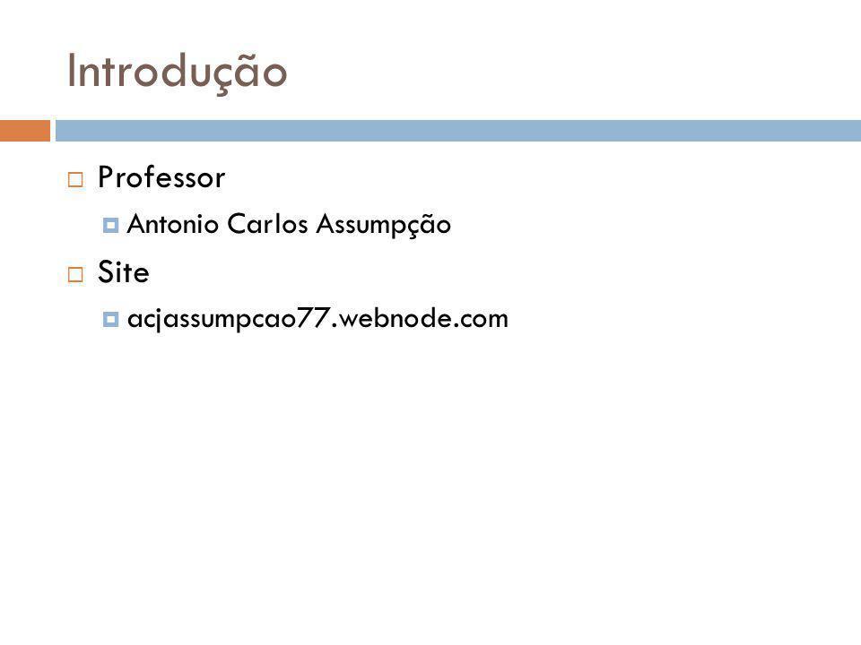 Introdução Professor Site Antonio Carlos Assumpção
