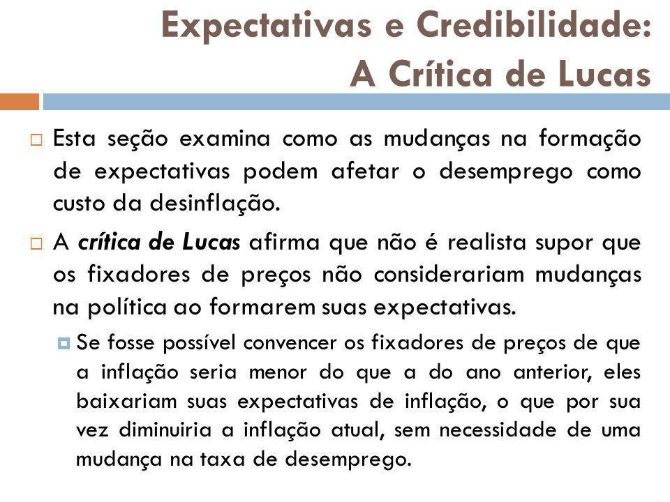 Expectativas e Credibilidade: A Crítica de Lucas