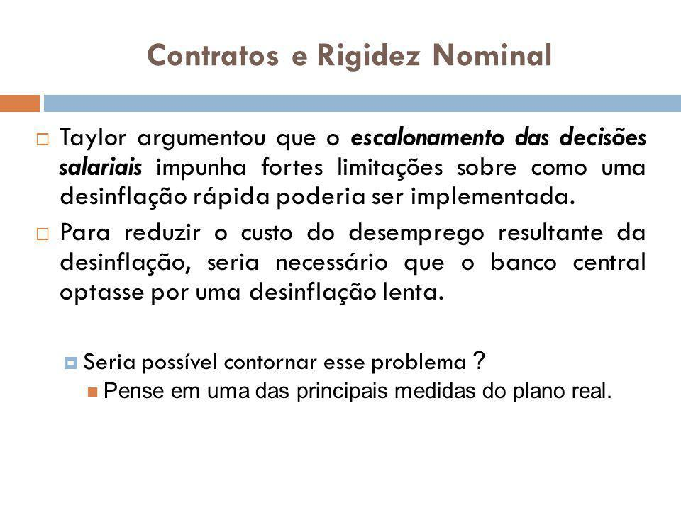 Contratos e Rigidez Nominal