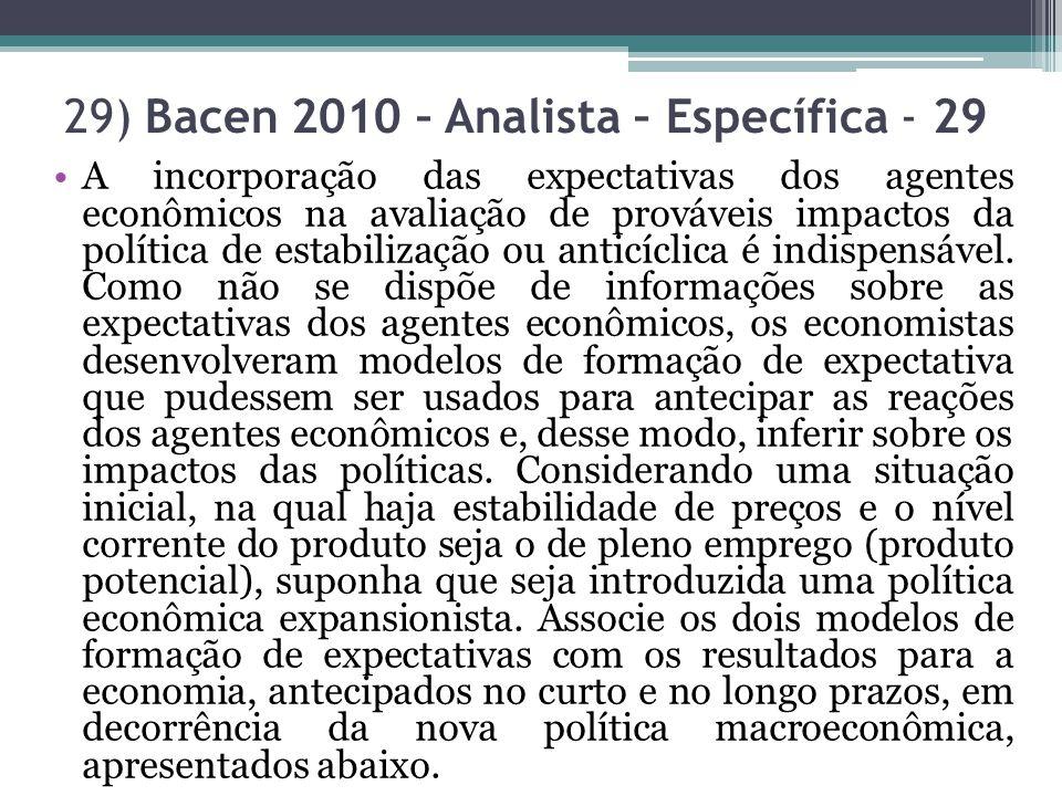 29) Bacen 2010 – Analista – Específica - 29