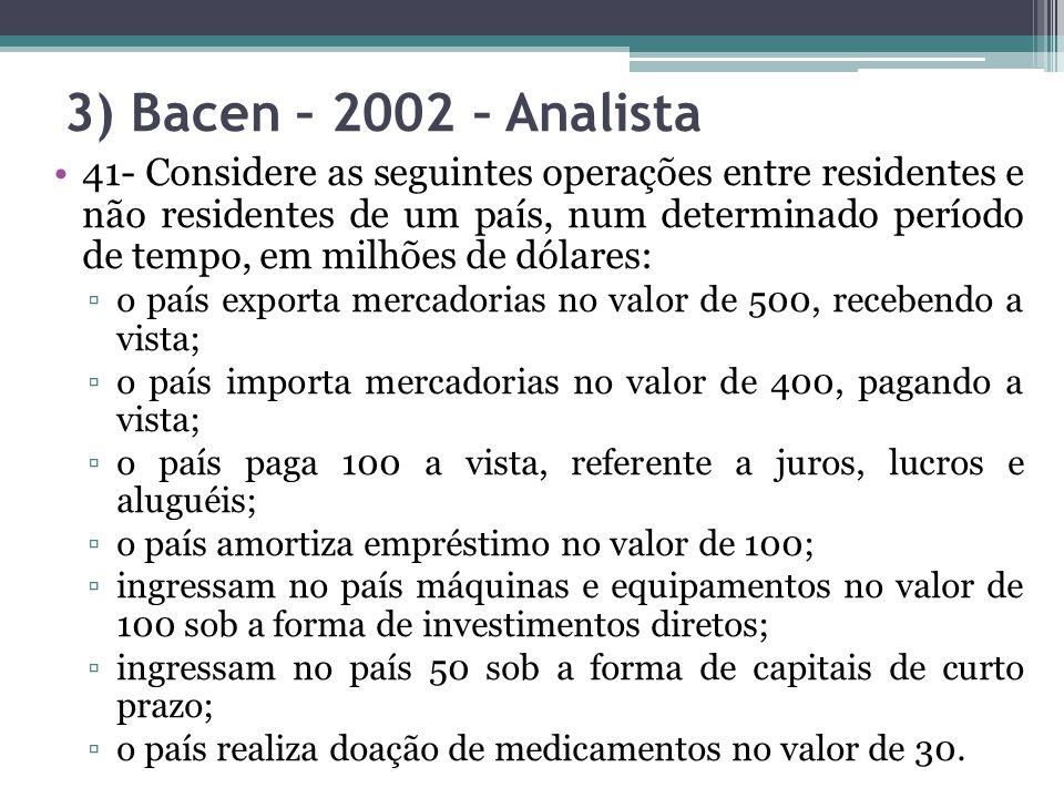 3) Bacen – 2002 – Analista