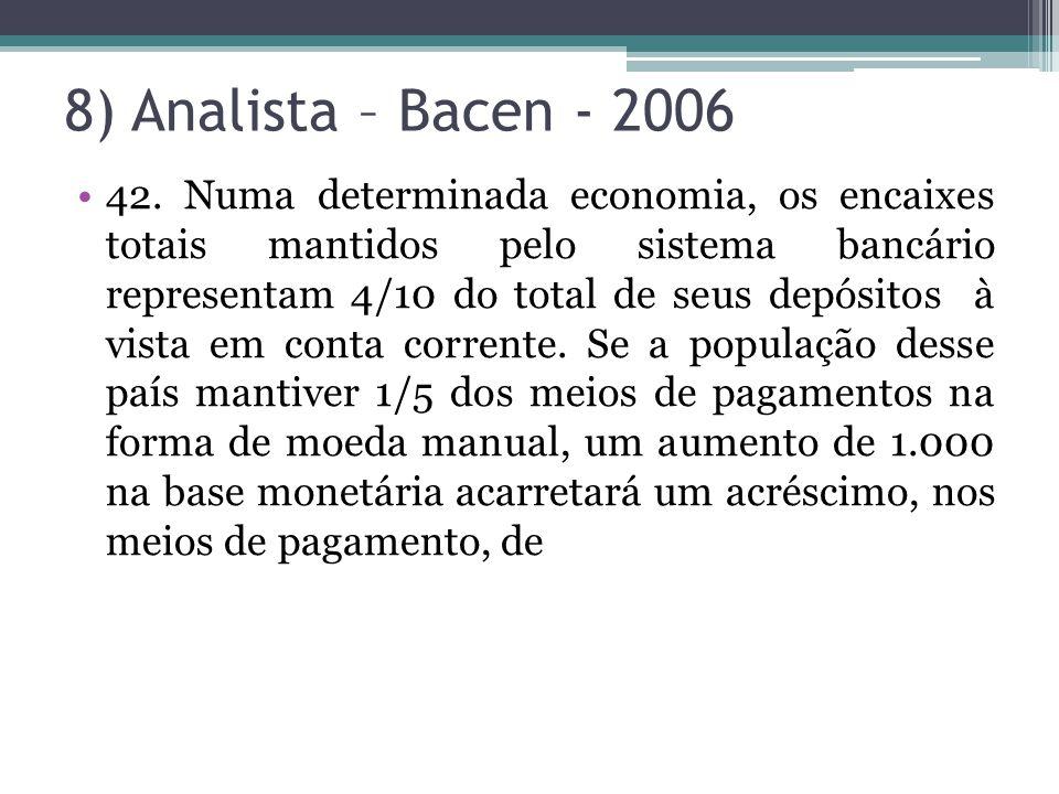 8) Analista – Bacen - 2006
