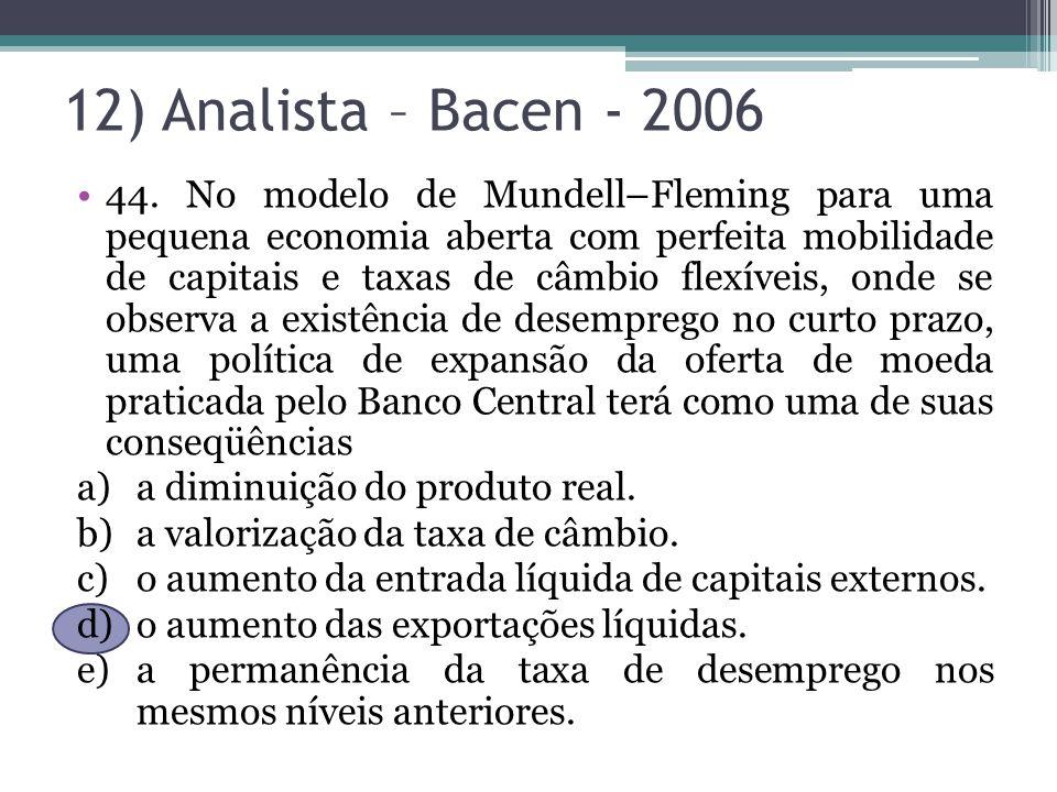 12) Analista – Bacen - 2006