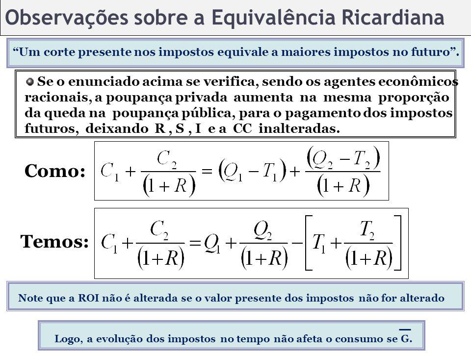 Observações sobre a Equivalência Ricardiana