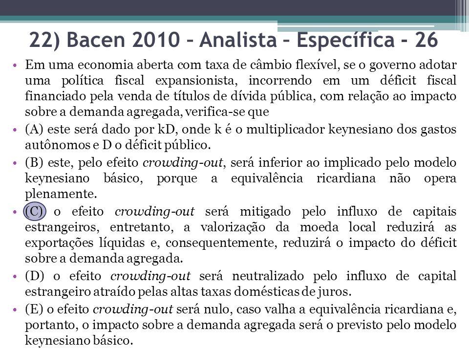 22) Bacen 2010 – Analista – Específica - 26