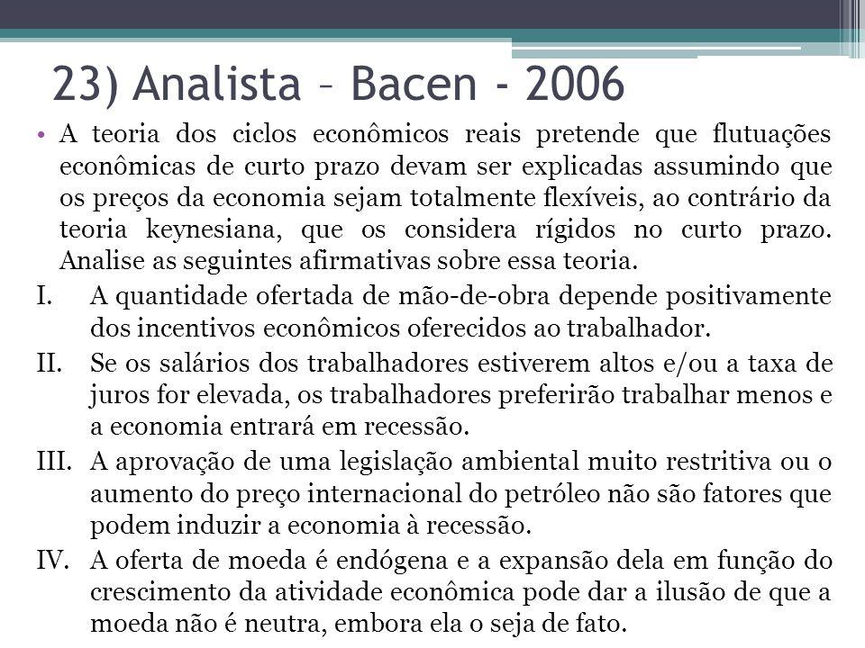 23) Analista – Bacen - 2006