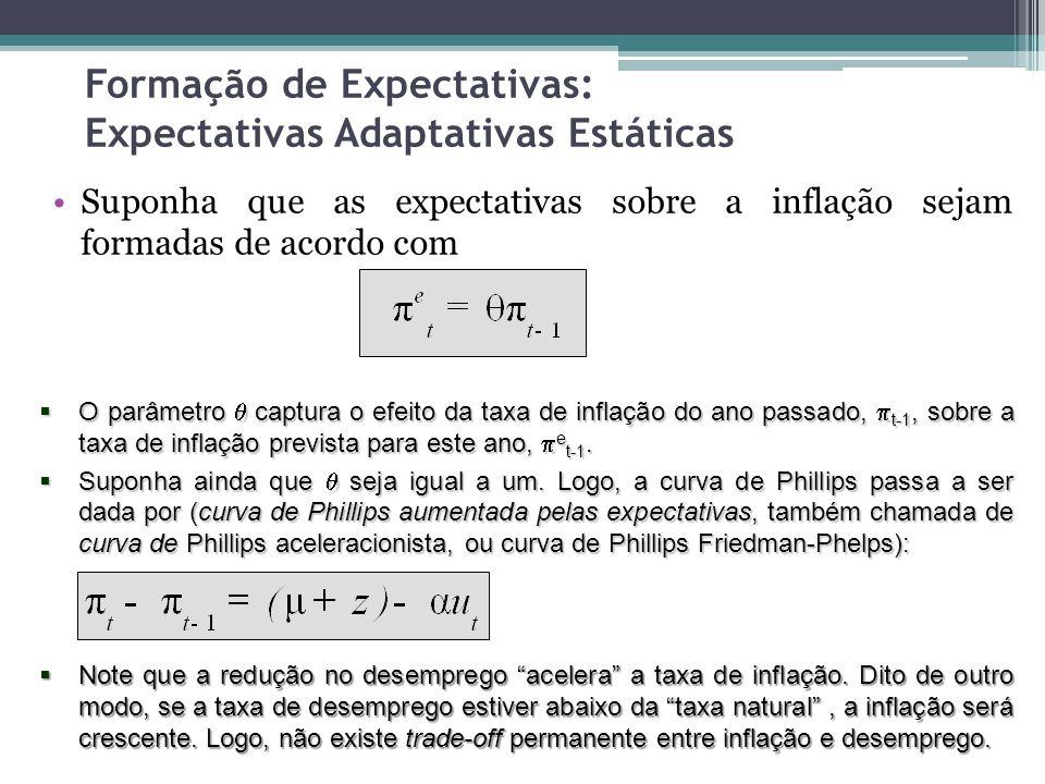 Formação de Expectativas: Expectativas Adaptativas Estáticas