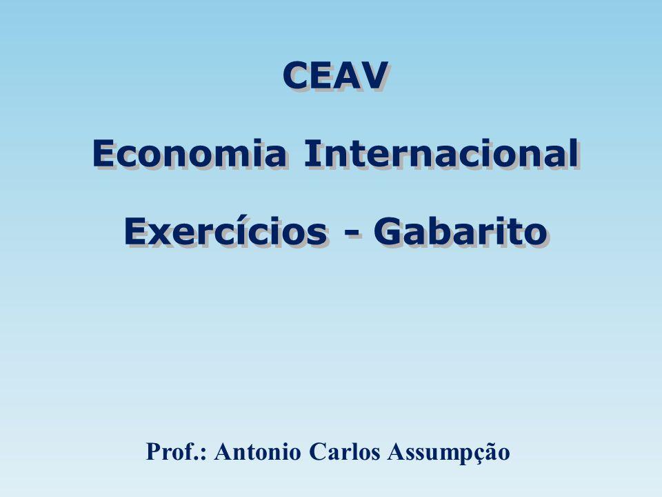 CEAV Economia Internacional Exercícios - Gabarito
