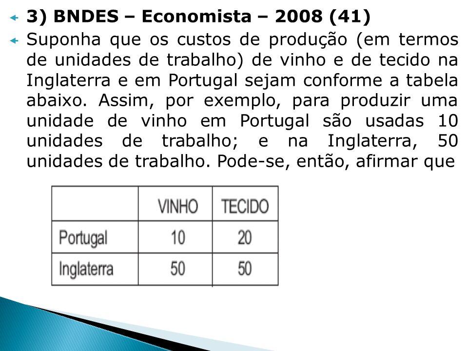 3) BNDES – Economista – 2008 (41)