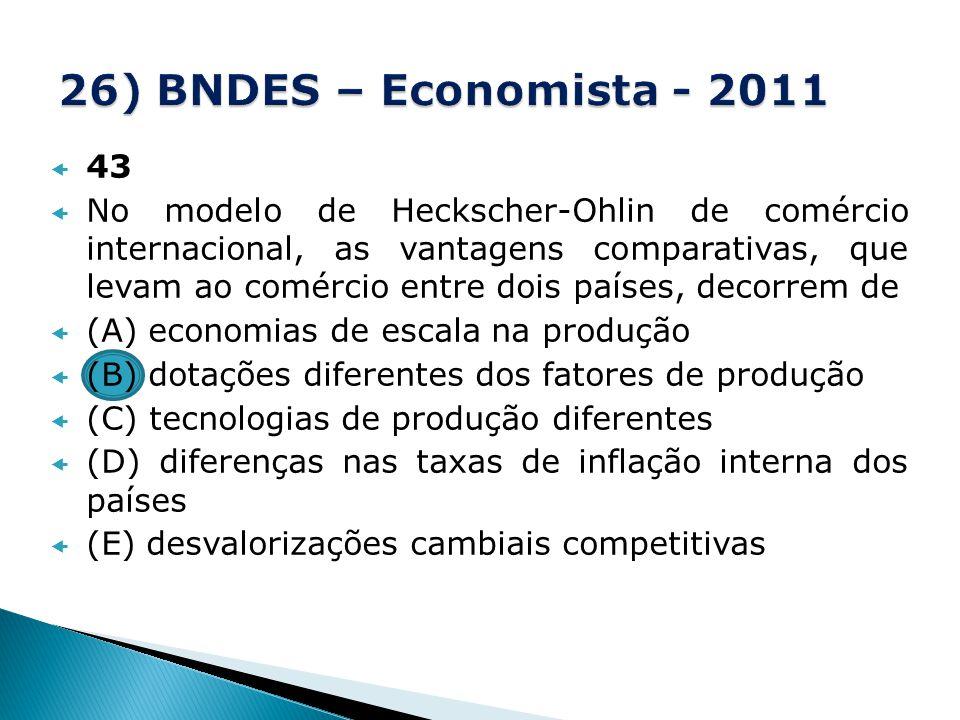 26) BNDES – Economista - 2011 43.