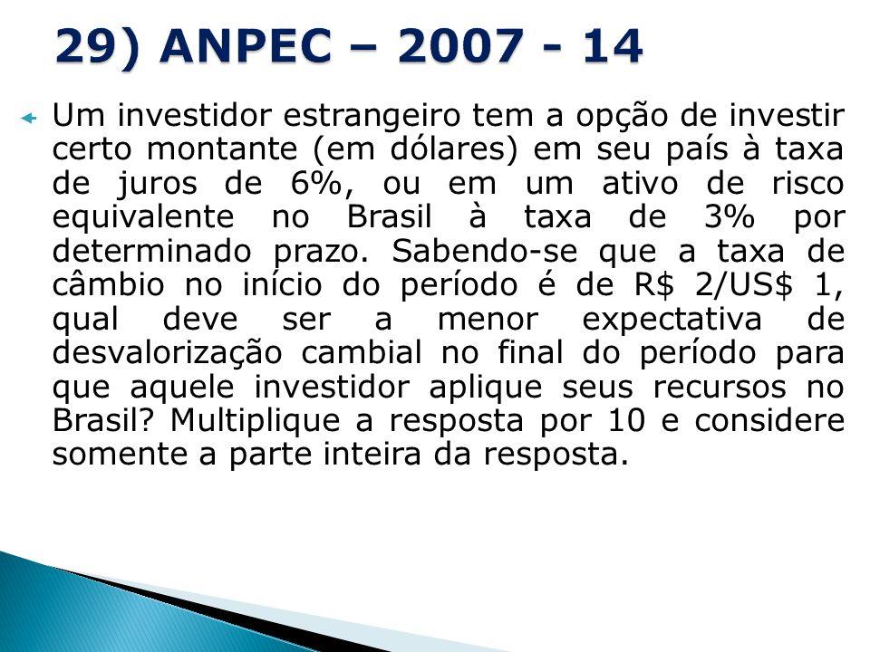 29) ANPEC – 2007 - 14