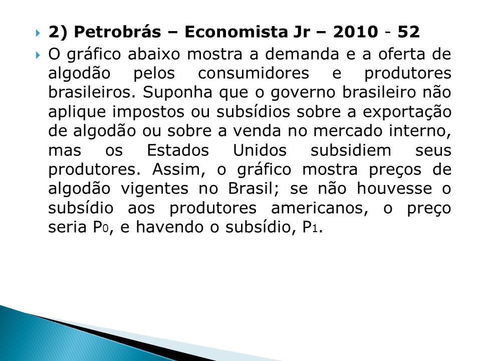 2) Petrobrás – Economista Jr – 2010 - 52