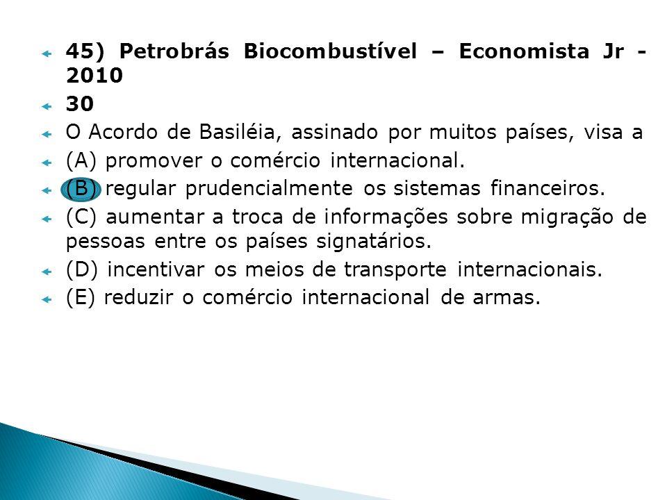 45) Petrobrás Biocombustível – Economista Jr - 2010
