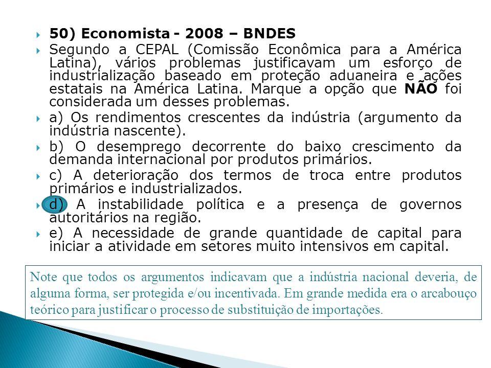 50) Economista - 2008 – BNDES