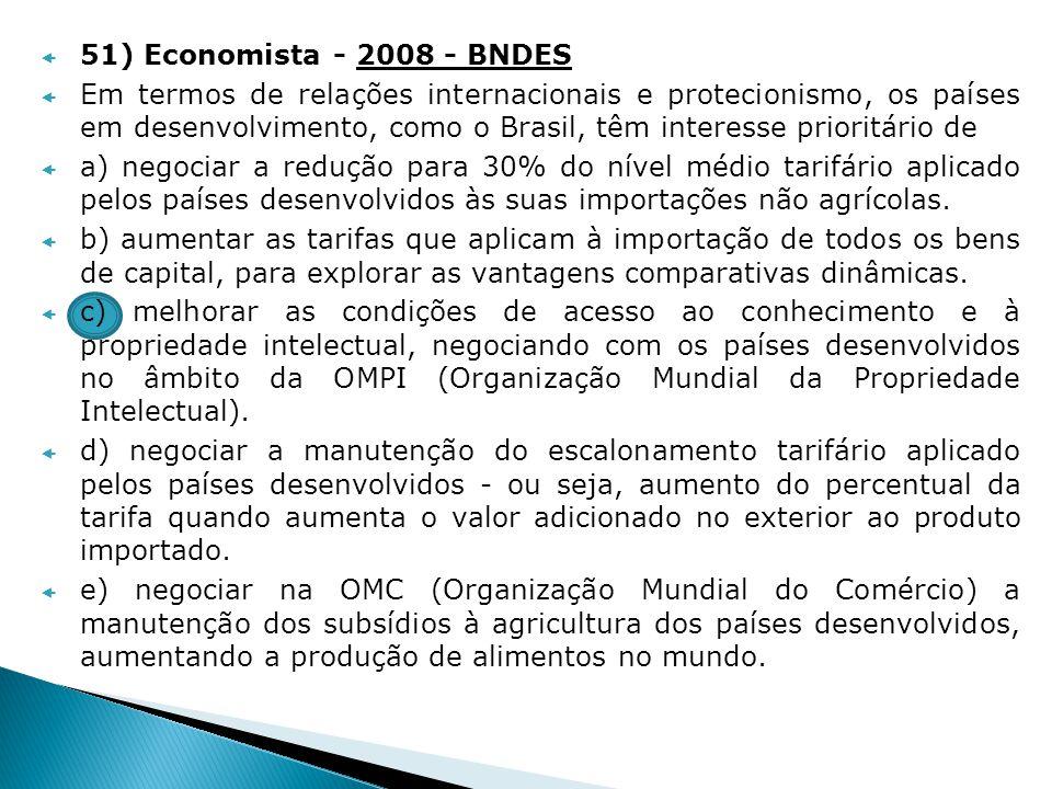 51) Economista - 2008 - BNDES