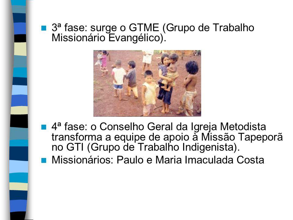 3ª fase: surge o GTME (Grupo de Trabalho Missionário Evangélico).