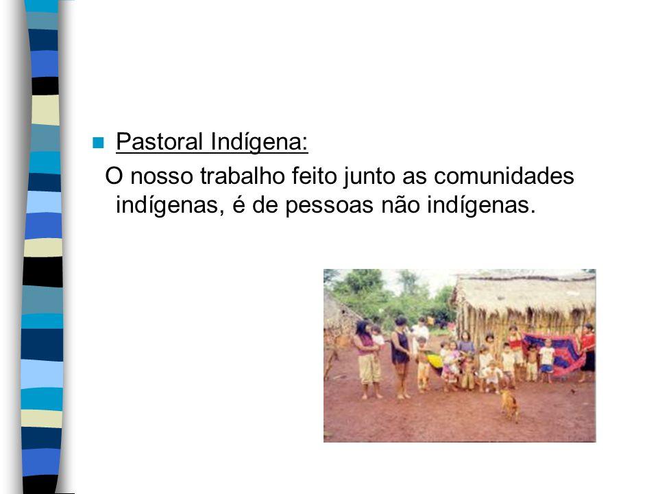 Pastoral Indígena: O nosso trabalho feito junto as comunidades indígenas, é de pessoas não indígenas.