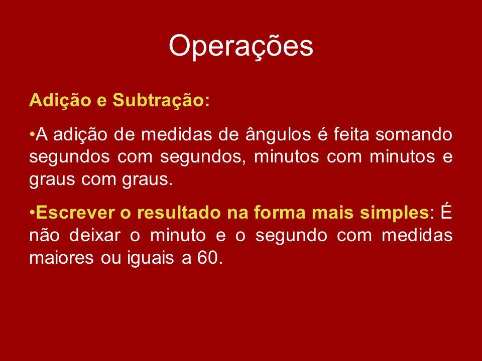 Operações Adição e Subtração: