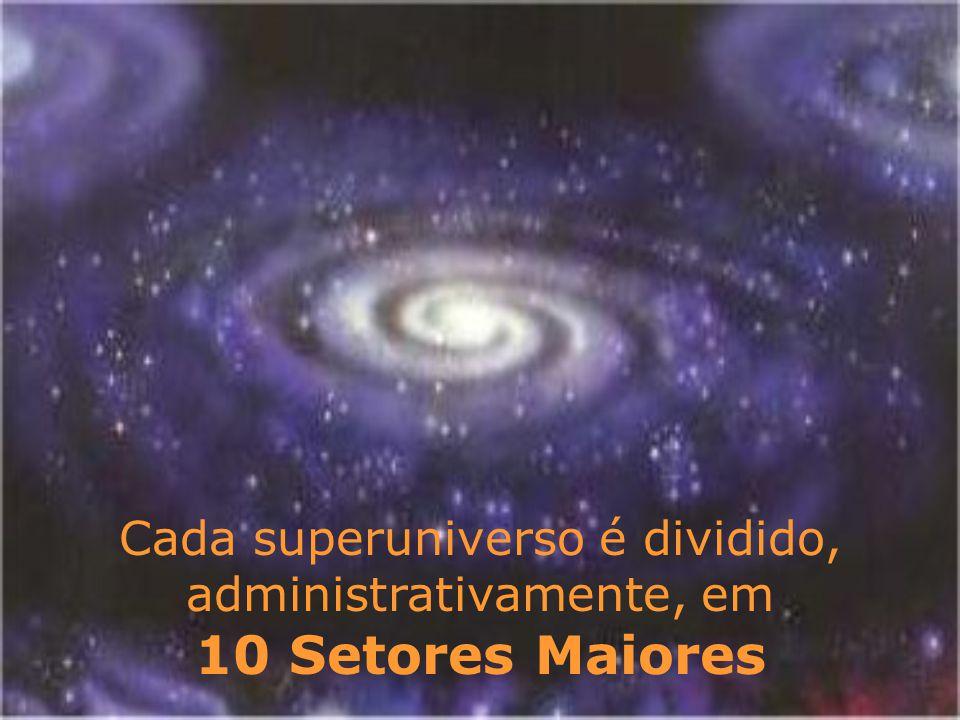 10 Setores Maiores Cada superuniverso é dividido,