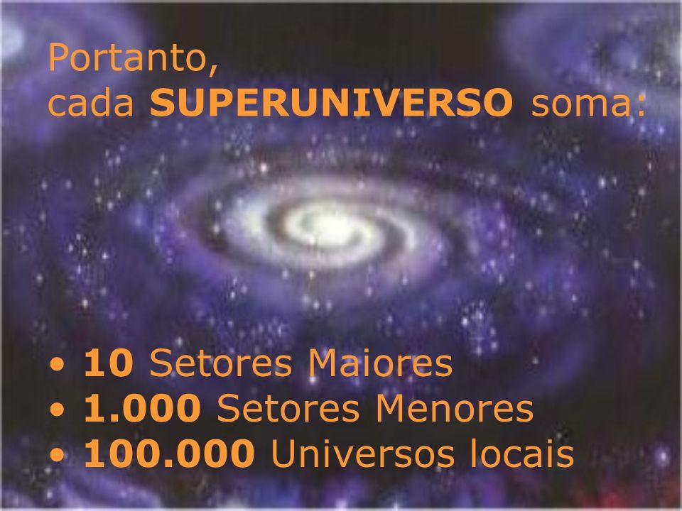 Portanto, cada SUPERUNIVERSO soma: 10 Setores Maiores.