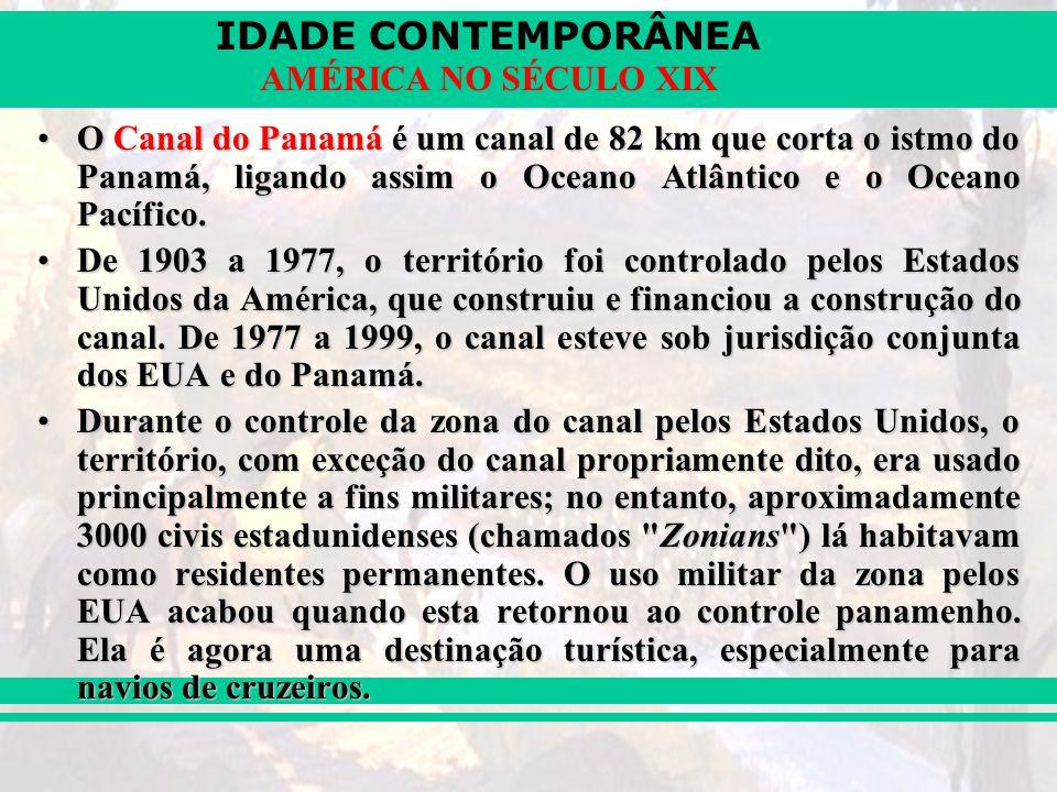 O Canal do Panamá é um canal de 82 km que corta o istmo do Panamá, ligando assim o Oceano Atlântico e o Oceano Pacífico.