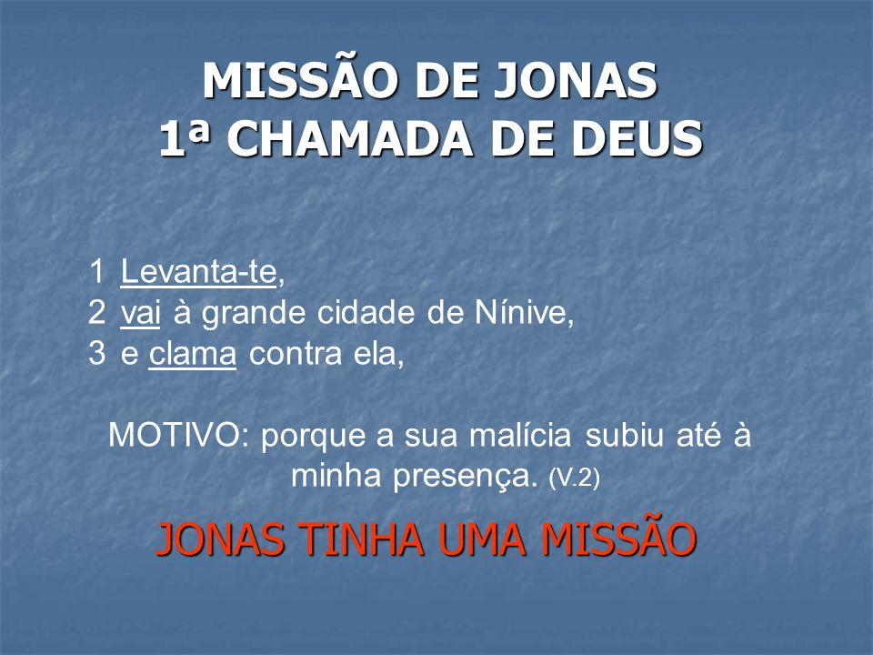 MISSÃO DE JONAS 1ª CHAMADA DE DEUS