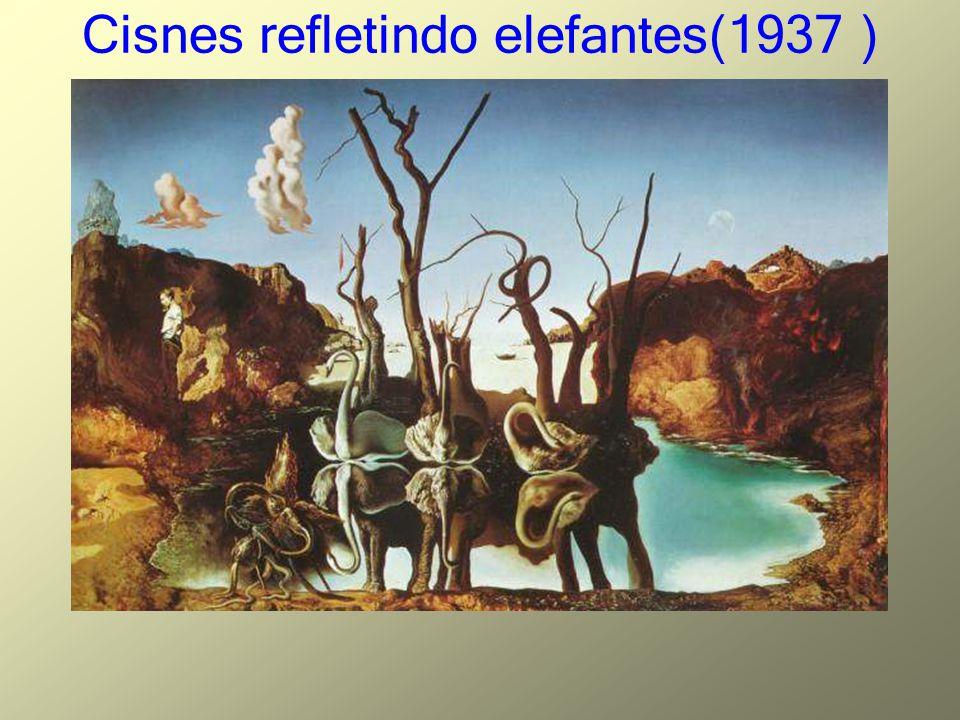 Cisnes refletindo elefantes(1937 )