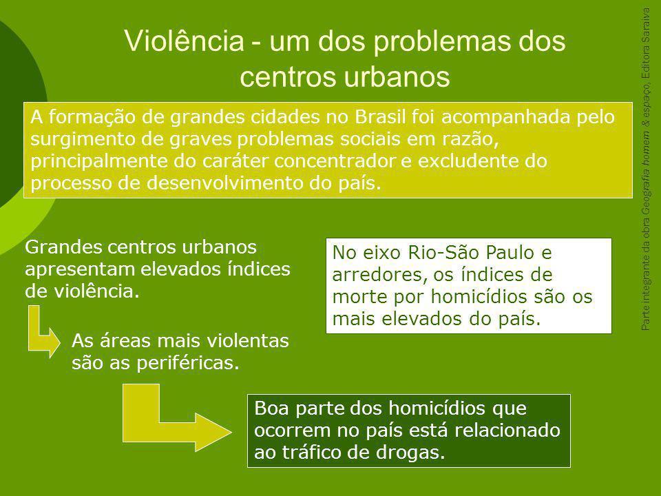 Violência - um dos problemas dos centros urbanos