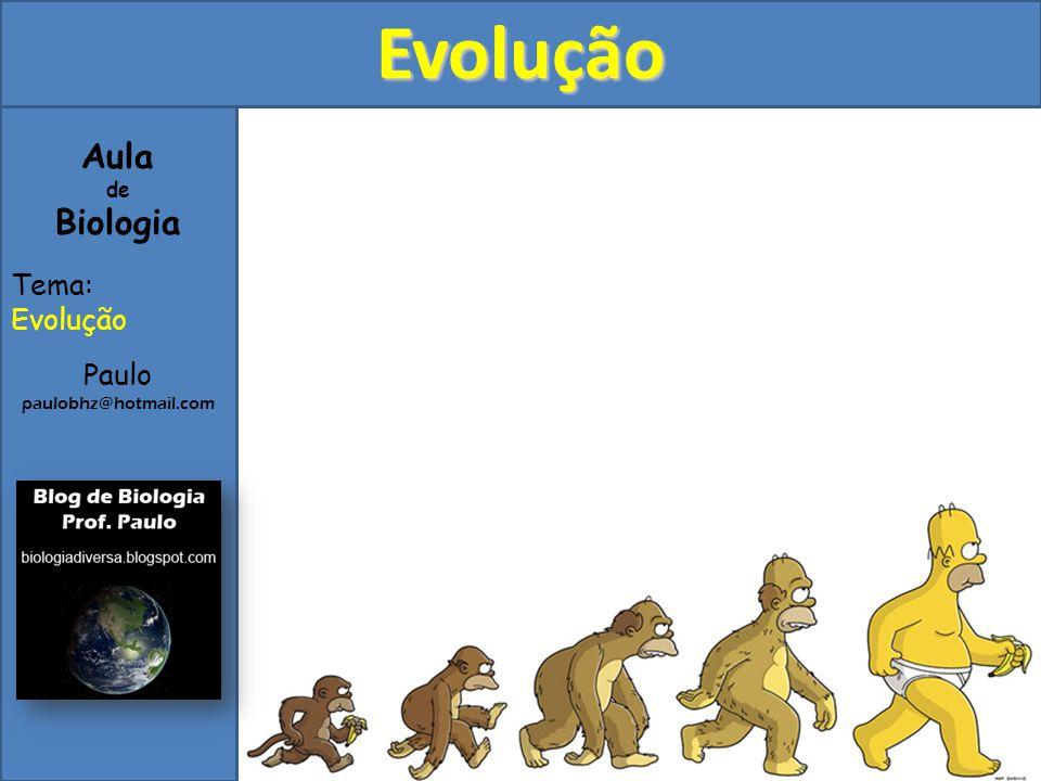 Evolução Aula de Biologia Tema: Evolução Paulo paulobhz@hotmail.com