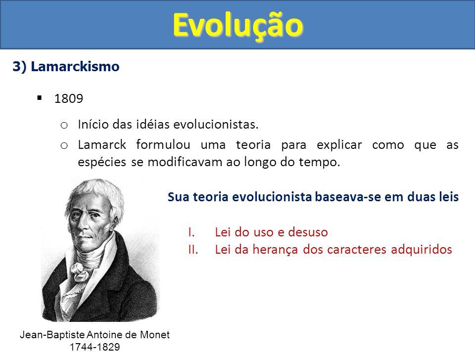 Sua teoria evolucionista baseava-se em duas leis