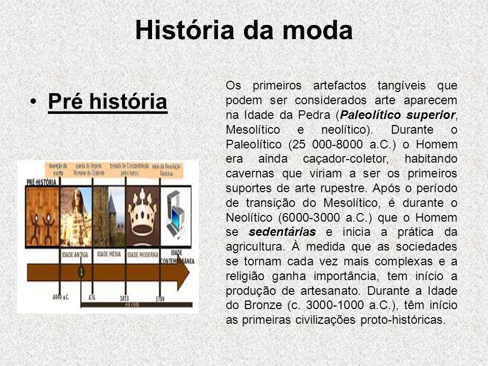 História da moda Pré história