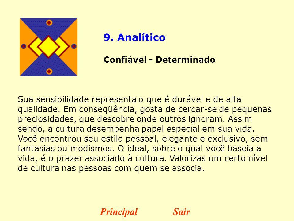 9. Analítico Principal Sair Confiável - Determinado