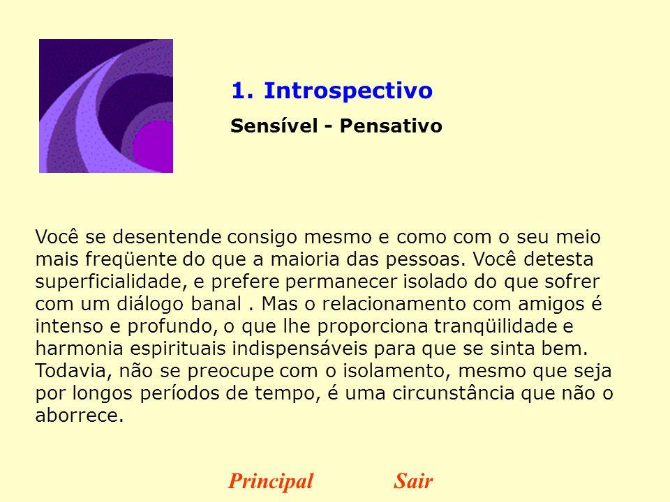 Introspectivo Principal Sair Sensível - Pensativo