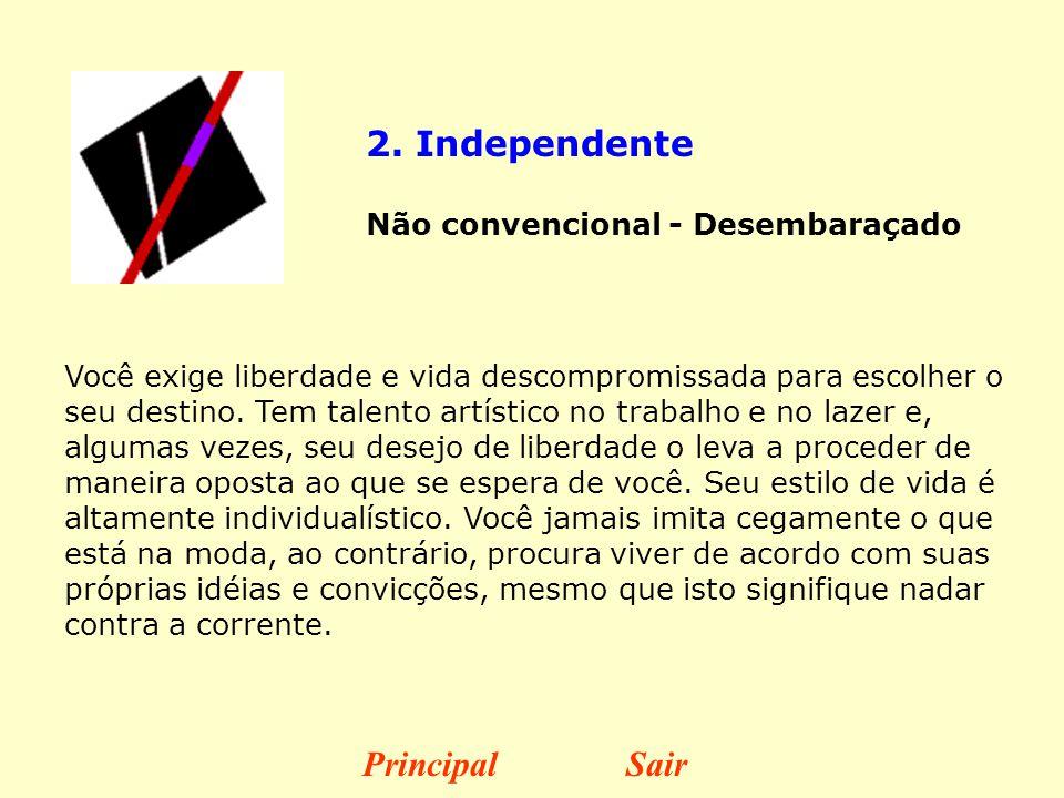 2. Independente Principal Sair Não convencional - Desembaraçado