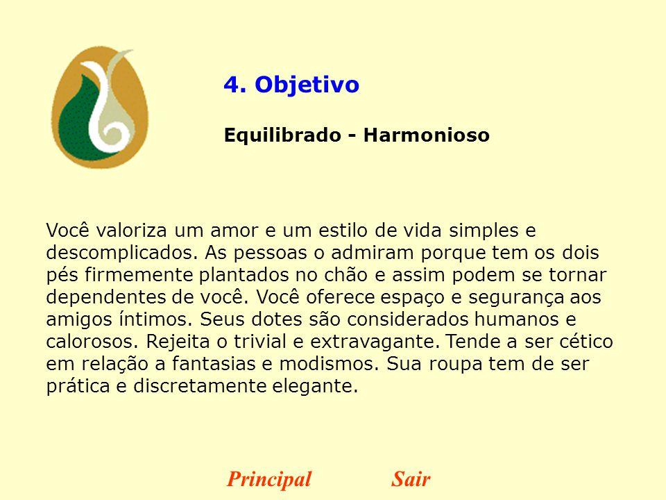 4. Objetivo Principal Sair Equilibrado - Harmonioso