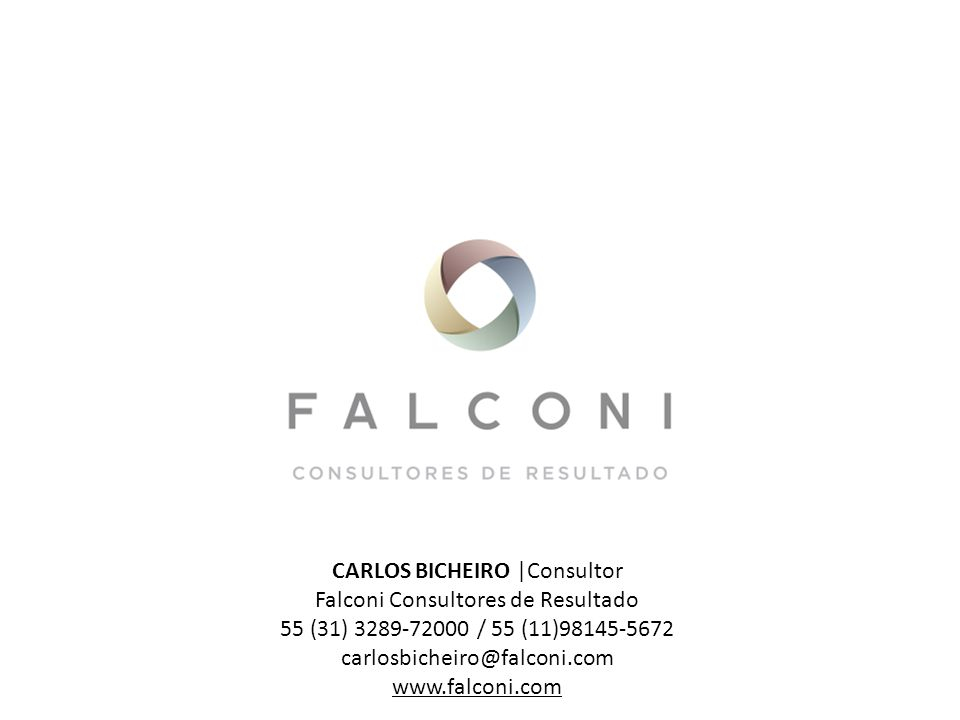 CARLOS BICHEIRO |Consultor Falconi Consultores de Resultado