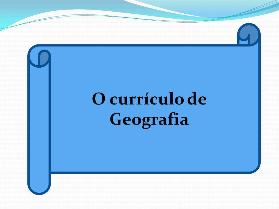 O currículo de Geografia