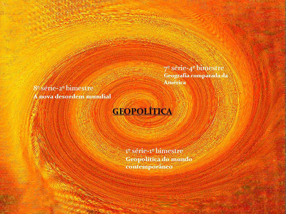GEOPOLÍTICA 7º série-4º bimestre 8º série-2º bimestre