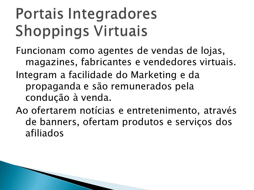 Portais Integradores Shoppings Virtuais