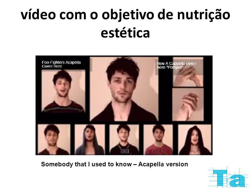 vídeo com o objetivo de nutrição estética