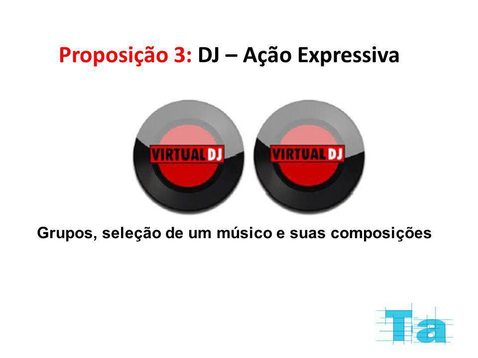 Proposição 3: DJ – Ação Expressiva