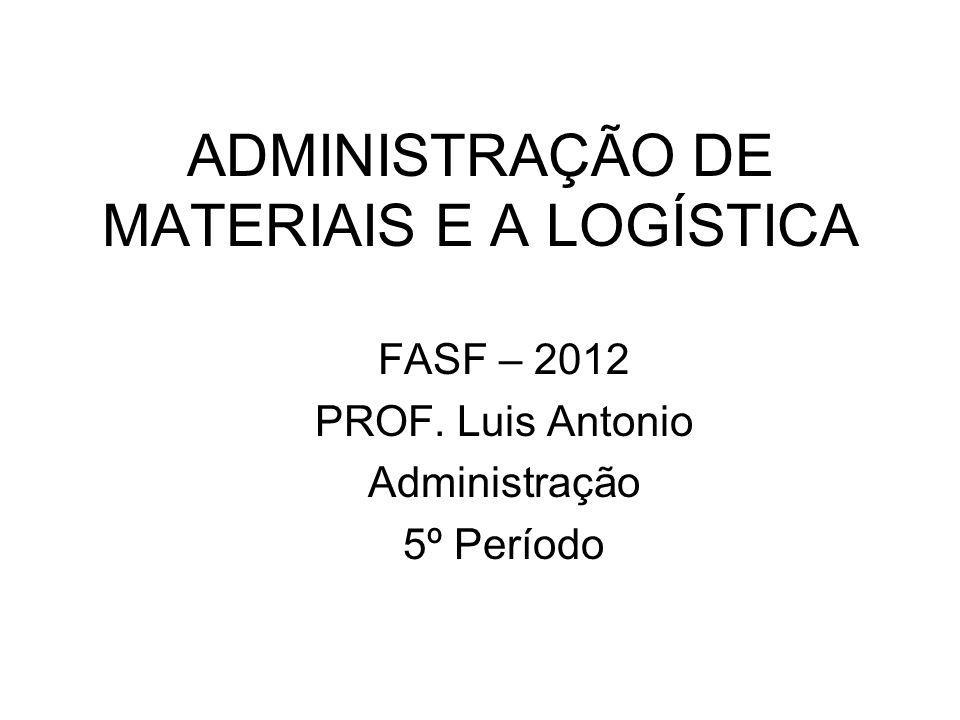 ADMINISTRAÇÃO DE MATERIAIS E A LOGÍSTICA