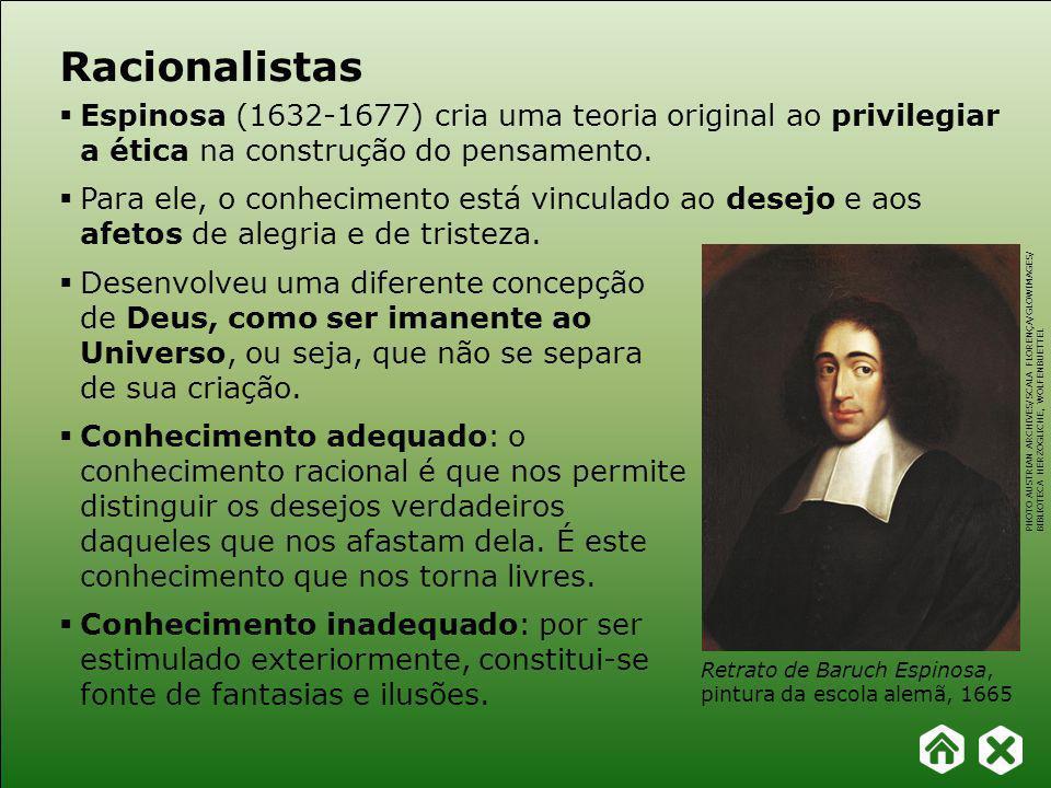 Racionalistas Espinosa (1632-1677) cria uma teoria original ao privilegiar a ética na construção do pensamento.